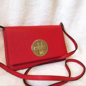 Kate Spade Red & Gold Crossbody Bag